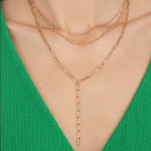 Bauble bar layered necklace set NWT